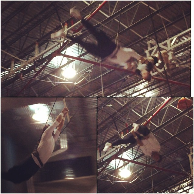 Had so much fun at trapeze school learning how to fly!! @kateupton