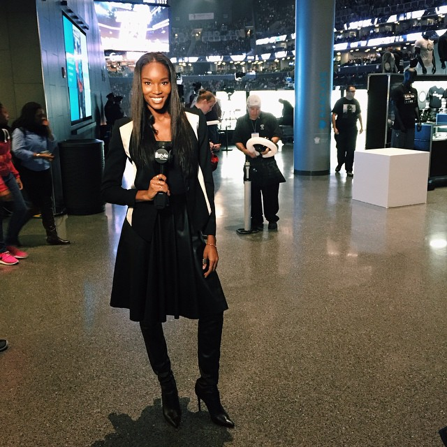 #NBAStyle had some fun at Barclays Center tonight!
