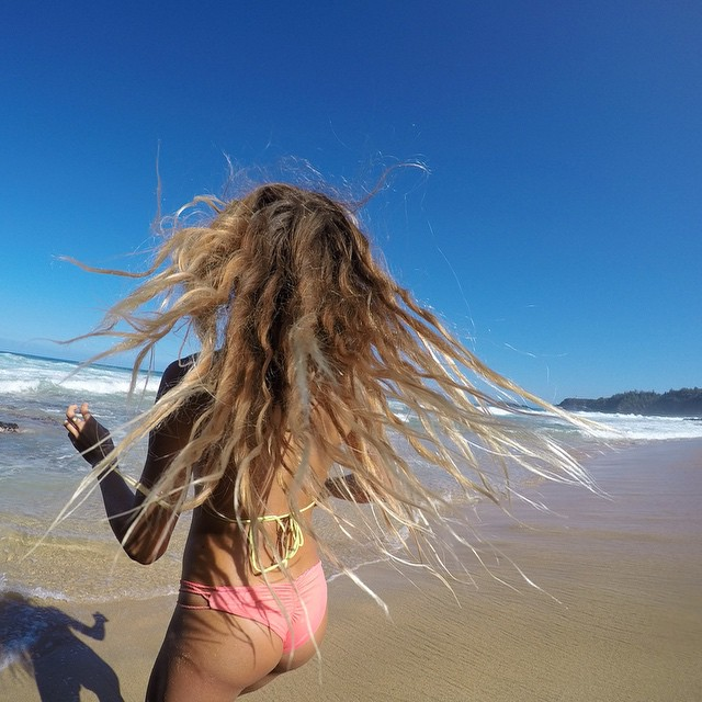 Whipping my messy hair around. @gopro #gopro4