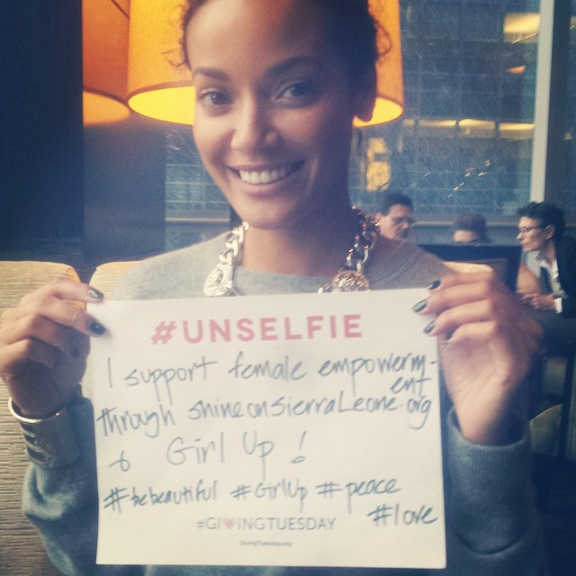 Please join me on #GivingTuesday December 2nd in supporting #ShineOnSierraLeone & #GirlUp #UnSelfie #Peace #Love