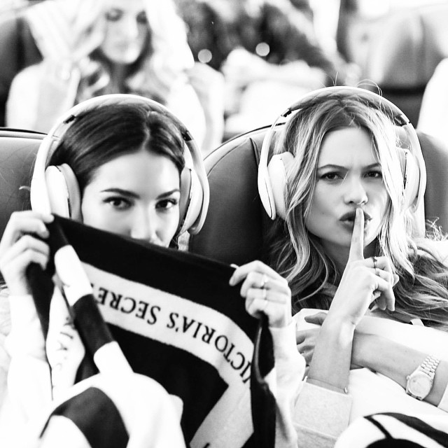 Sssshhh! There are #angels trying to sleep! #london bound! #vsfashionshow #2014