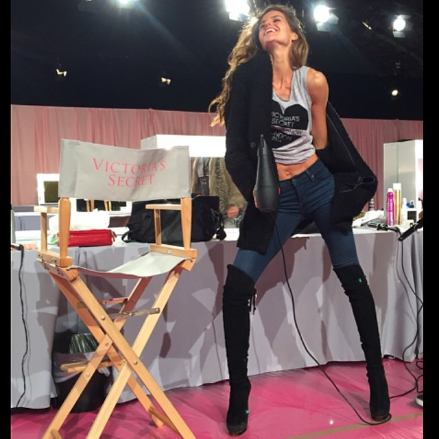 #VSFashionShow mode on!! About to start the rehearsal soon!! Can't wait to see the runway!