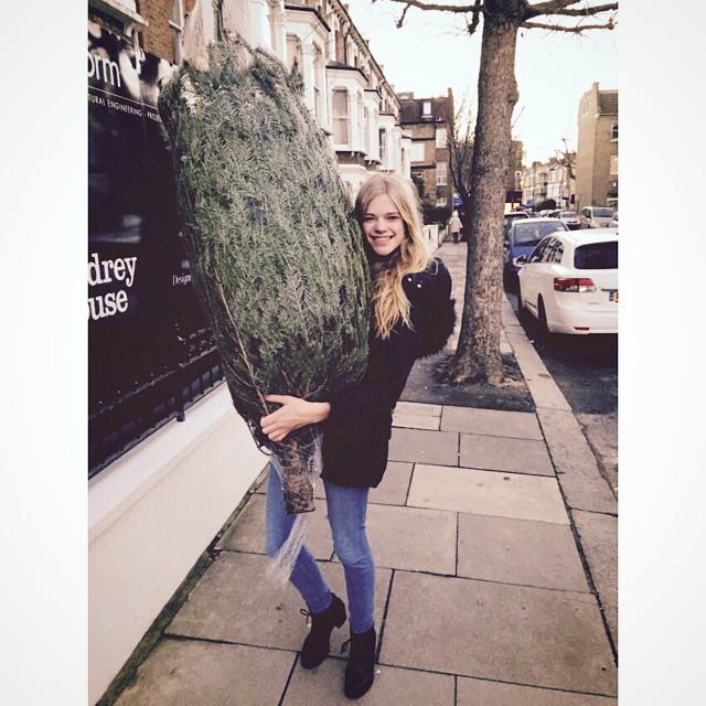 Got my Xmas tree!!! #london #xmastree #jolly #santaclaus