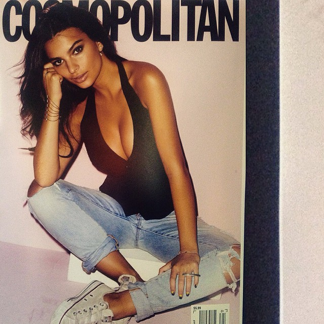 One of my proudest moments of 2014: my @cosmopolitan cover! Such an honor. Here's one of the outtakes