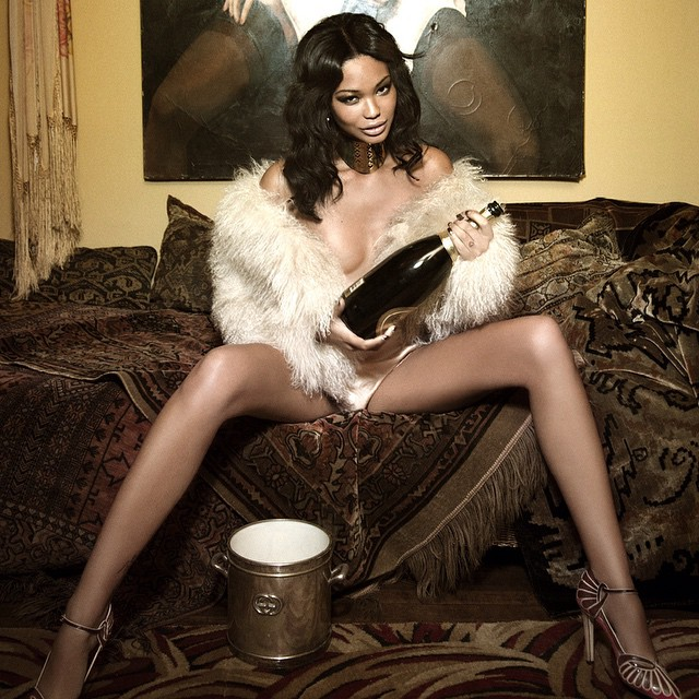 #TBT Bad babe @chaneliman popping the champagne shot by @ellenvonunwerth emojiemojiemoji for #Galoremag.com