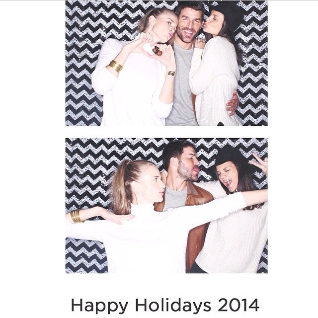 Happy holidays with me and @allierizzo @benjaminthigpen #regram #photobooth #holidayparty
