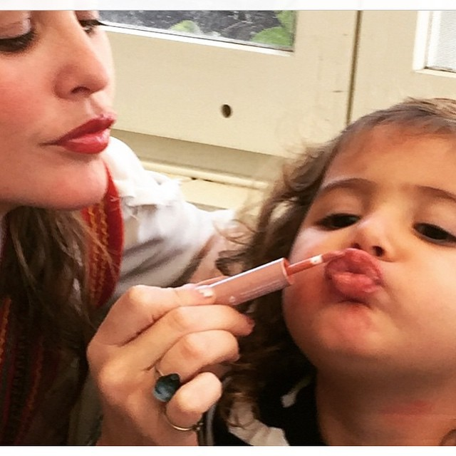 Like mother like daughter #indilove #arganlove #josiemarancosmetics #cocoforcoconutlipstain