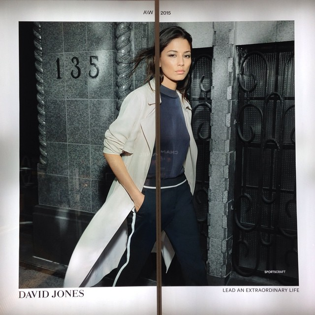 ||WINDOW SHOPPING|| Happy to be home! Excited to be back in Australia for the @davidjonesstore AW15 Fashion launch! #djsfashion #davidjones