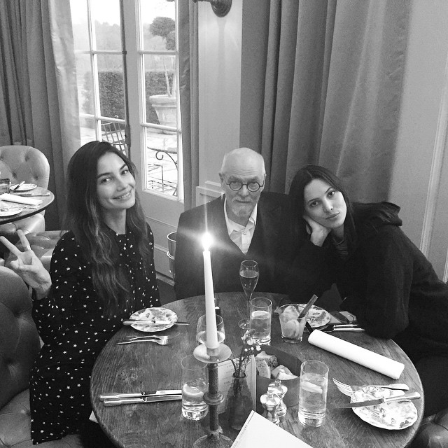 Dinner with my idol (my dad) & my best friend (my sister )