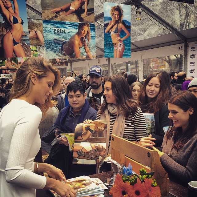 Come on down to Herald Square !! Lots of crazy fun going on in the @si_swimsuit tent !! #siswim