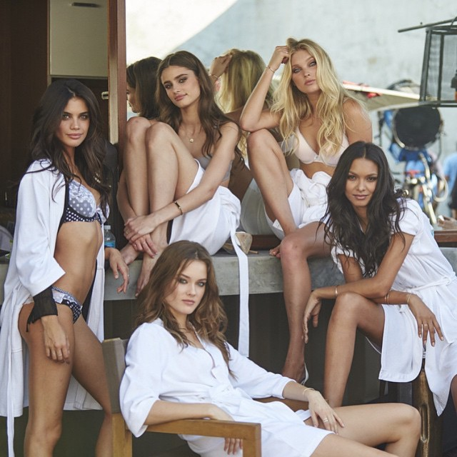 #repost from @ed_razek. The @victoriassecret gang! and watch the #VSSwimSpecial at 10pm on cbs