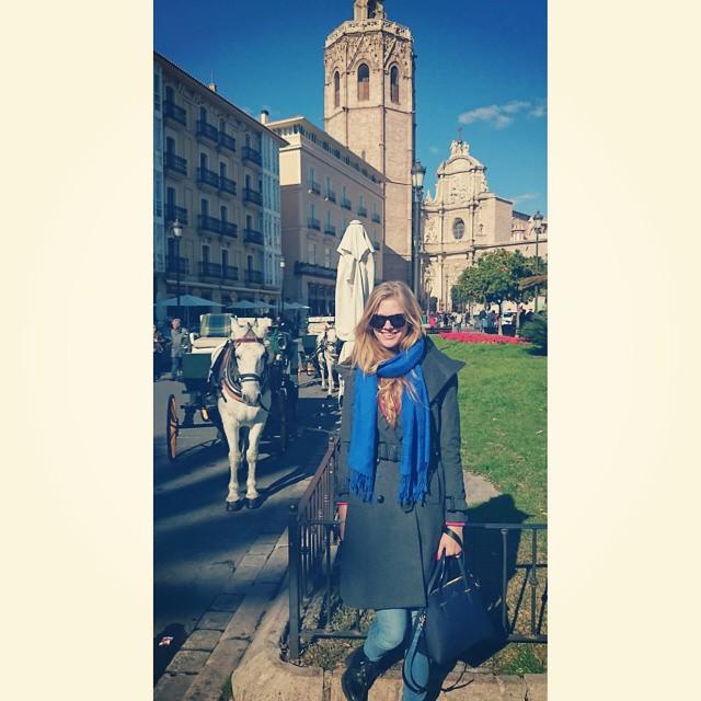 Lovely day in Valencia! #Spain #valencia #horse #redslife