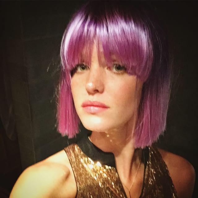 violet hair fantasy.