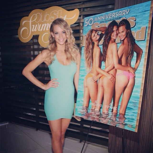 Can't believe this is almost a year ago ! #tbt @si_swimsuit #launch #Miami #Liv #SIswim50 my #rookie days