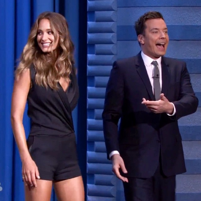 ICYMI @Hanni_Davis debuted her 2015 @SI_Swimsuit cover on @FallonTonight! #SISwim #IMGirls