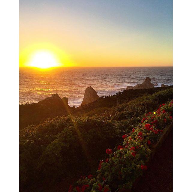 Decent sunset, Big Sur. You're alright.