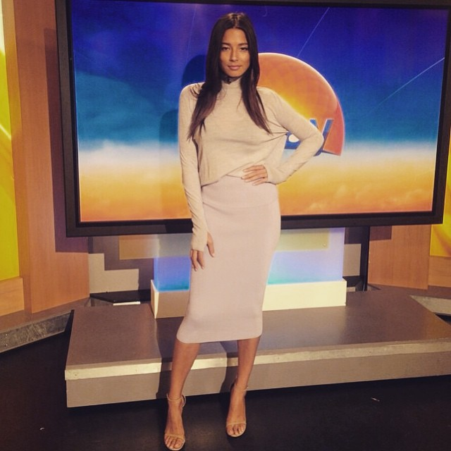 #regram @vogueaustralia Hope you guys loved my @_dion_lee_ look on the Today Show! Countdown for the AW15 Fashion Launch tonight @davidjonesstore #JessicaGomesforVogue