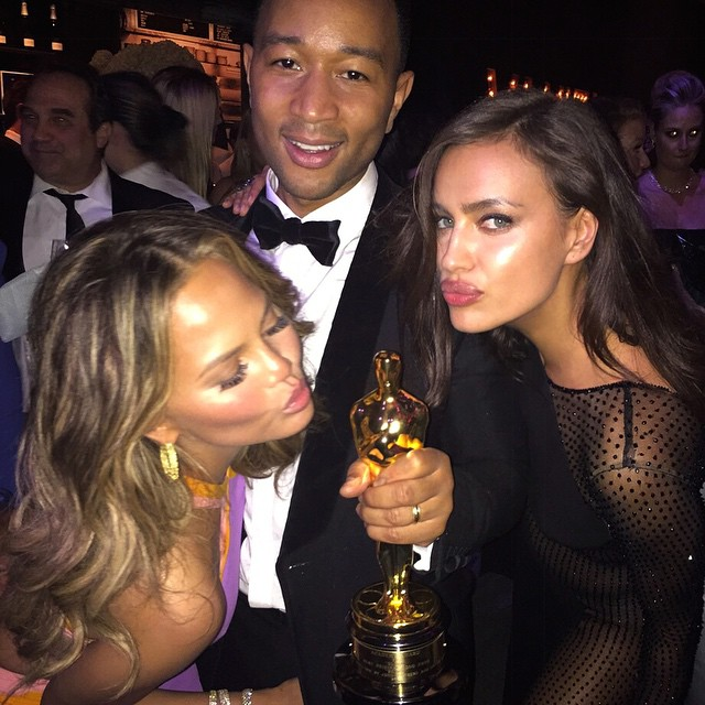 The best oscars weekend! Congrats John and Chrissy #oscarsweekend