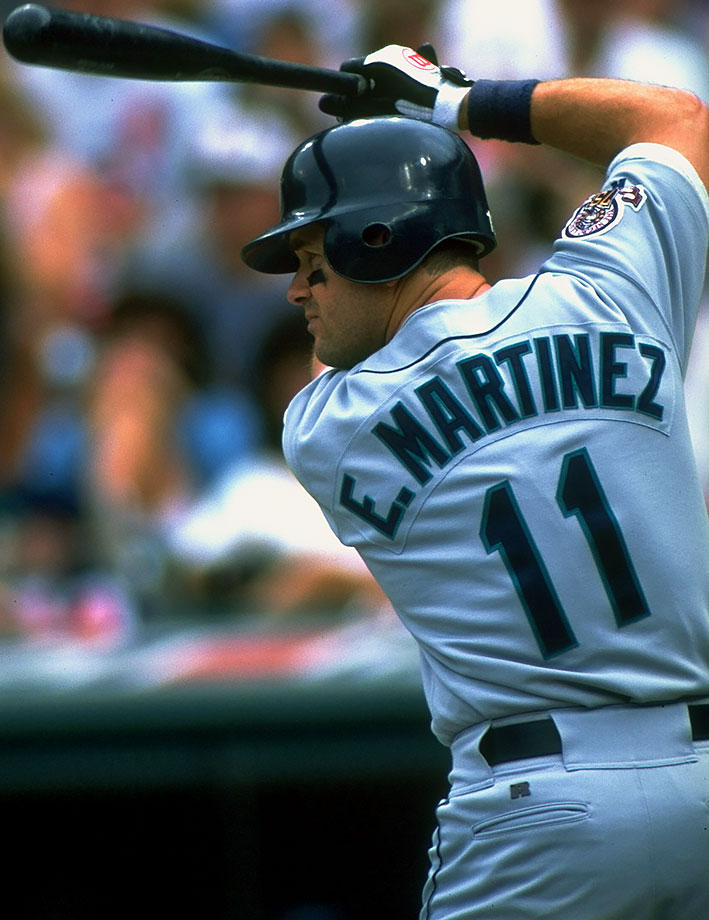 Martinez spent his entire career with the Seattle Mariners, where he was a seven-time All-Star and five-time Silver Slugger. He also won AL batting titles in 1992 and 1995.