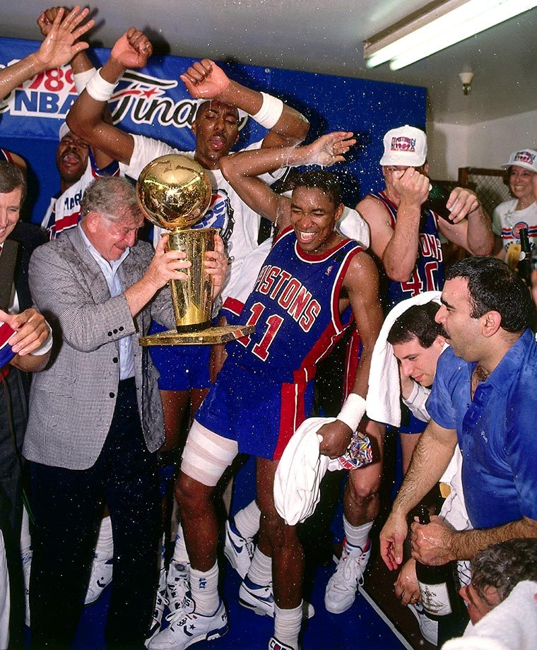 "Before Thomas' front office failures, the feisty Chicago product led the ""Bad Boy"" Pistons to back-to-back championships in 1989 and 1990. The 12-time All-Star appeared in every mid-season classic during his career save for his final season in 1993-94. He also piloted Detroit to the playoffs in all but two of his seasons. — Runner-up: Elvin Hayes"