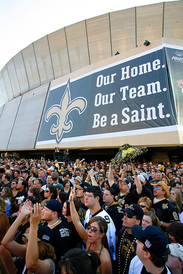 Sept. 25, 2006: With 70,000 fans and supporters gathered from around the globe, the Saints make an emotional return to the Superdome to play the Falcons.