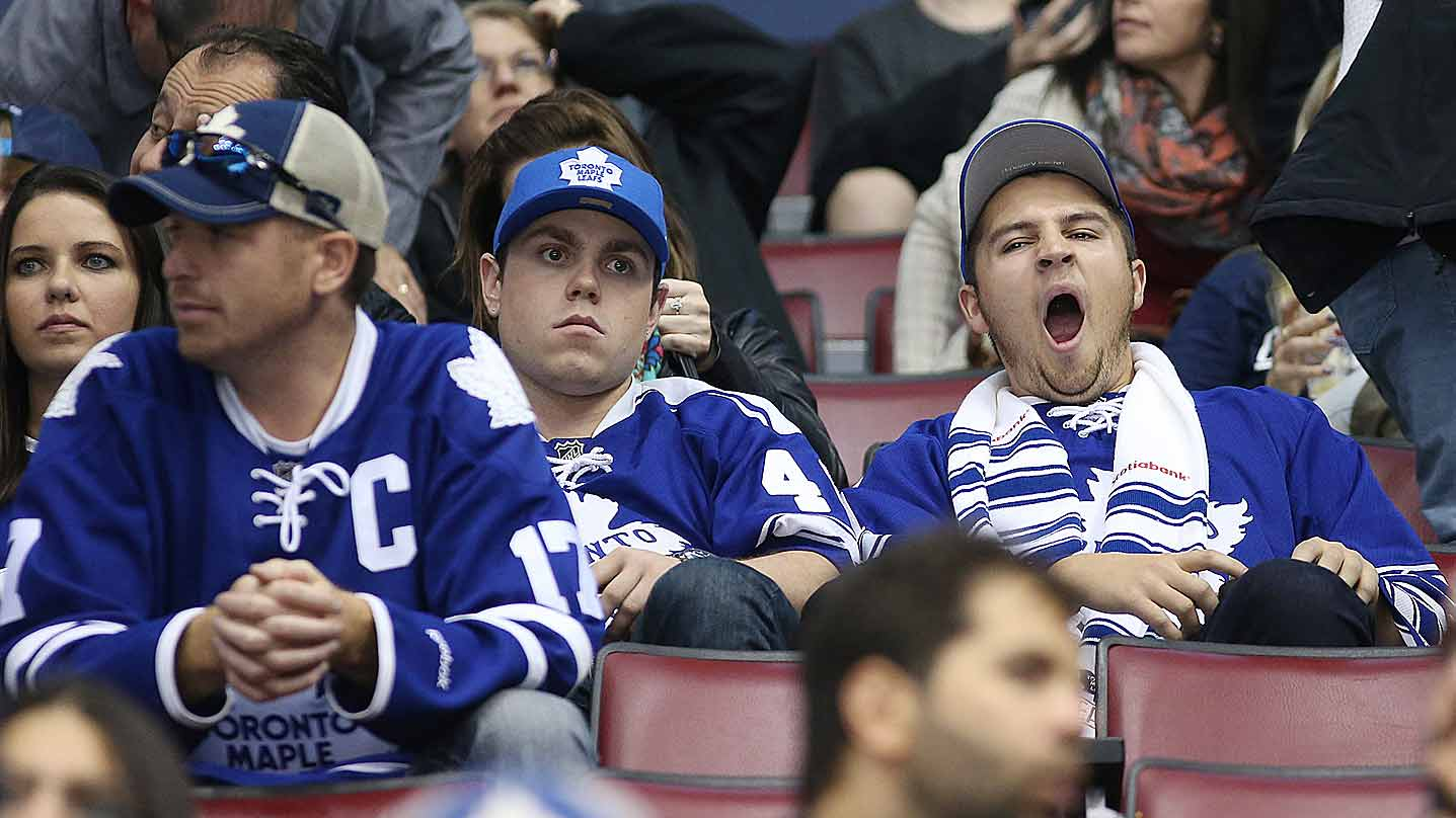 There was unbridled excitement at Toronto's Air Canada Centre as the Maple Leafs fell to Detroit, 4-1, on Oct. 17.