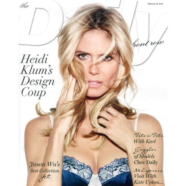 Thank you for an amazing cover @DailyFrontRow! You ARE Fashion Week! @heidiklumintimates #NYFW