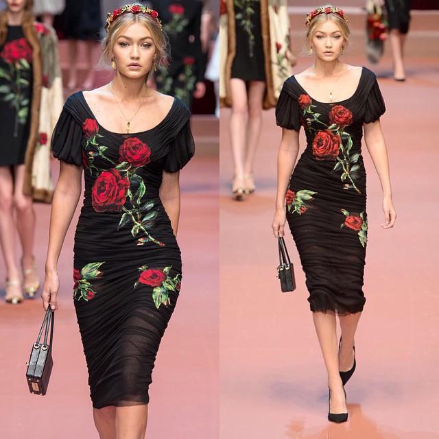 "The most beautiful ""arrivederci"" to Milano's fashion week. Thank you @dolcegabbana @stefanogabbana @tabithasimmons for celebrating women and making as all feel so beautiful! @patmcgrathreal @guidopalau Bravo!"