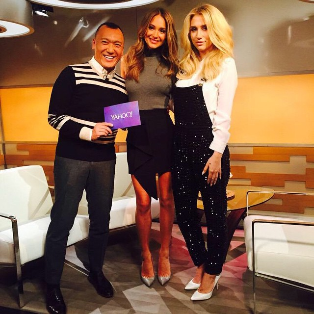 Loved talking fashion with @mrjoezee and @iiswhoiis on @YahooStyle! #StyleLive #NYFW