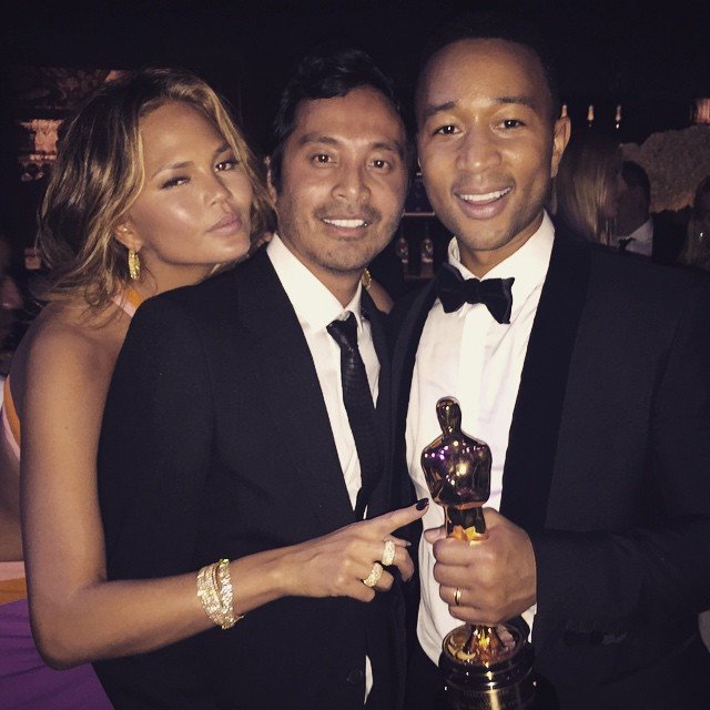 Congratulation to @johnlegend and @chrissyteigen his amazing talent on his @theacademy #oscar win! I love and cherish our friendship.