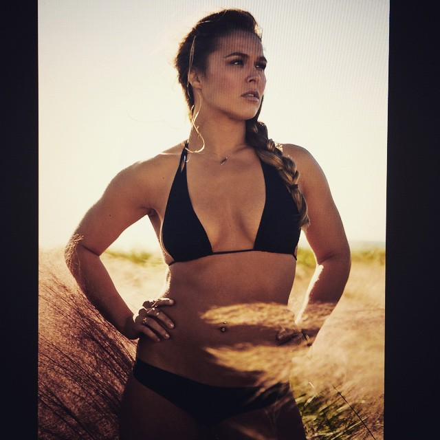 """Ronda """"Rowdy""""Rousey, not only beautiful, but the UFC middleweight champ! She fights tonight."""