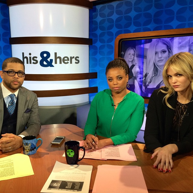 Giving some #BlueSteel with the hilarious @jemelehill and @themichaelsmith on @espnhishers today Hope to see you two soon!