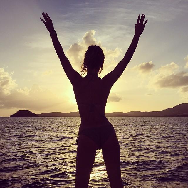 End to an epic day #VirginIslands #StThomas #ocean #sunset #nature #magical #sun #Caribbean