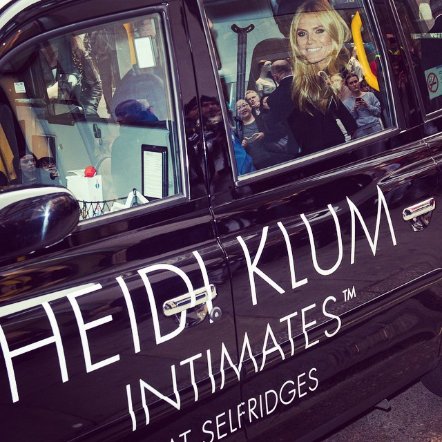 Thank you London .....Thank you Selfridges for your warm welcome #heidiKlumIntimates @heidiklumintimates