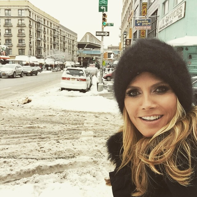 Beautiful snowy day in NYC