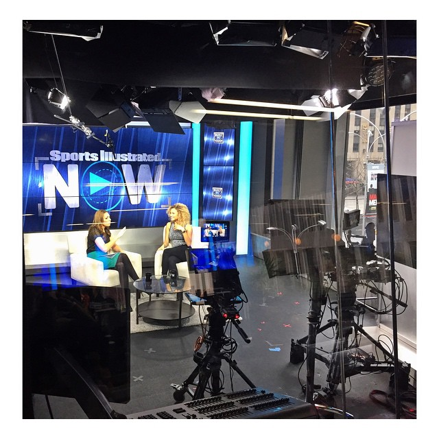 Lovely talk today with @maggiegraysi for @sinowlive #SportsIllustrated Watch full video on : http://www.si.com/swim/video/2015/03/25/how-si-swimsuit-model-rose-bertram-handles-celebrity-dating-life