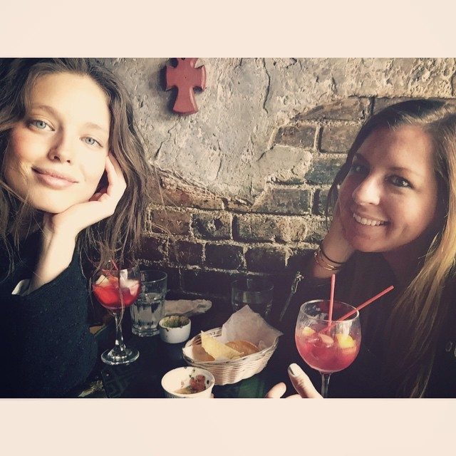 We just drank a lot of Sangria and it is not even 1pm on a Tuesday. Happy belated birthday @julietgiambona