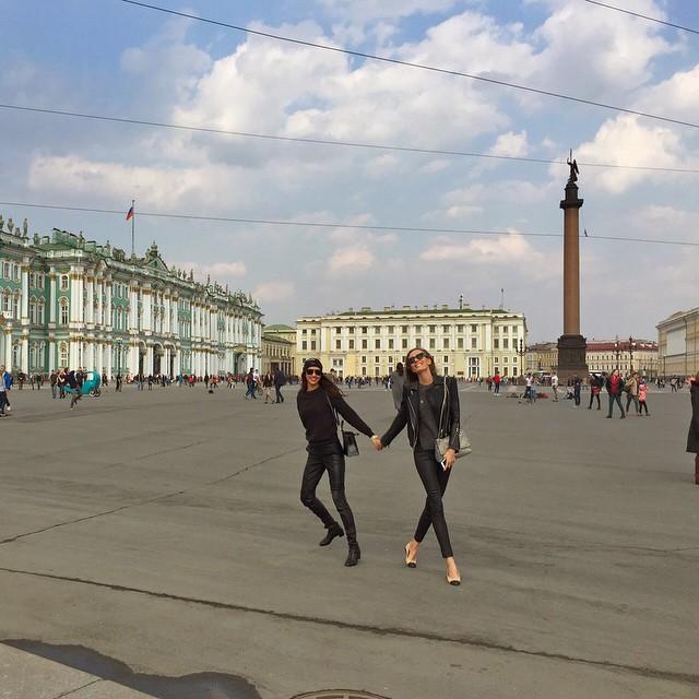 Russian Easter in beautiful St Petersburg Thank U @loverepublic_official for having me here @elenaisakova #squareofwinterpalace