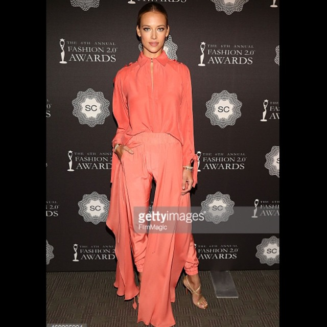 Last night at the Fashion Awards 2.0 ! Thanks so much for giving me the privilege of being a presenter! Styled by @jennifermazur1 Hair by @shalomsharon Makeup by @jromeroromero you all are best of the best so thank y'all for giving me this look!!! xox @jcobando @louboutinworld @azlee @trumpmodels #fashion #awards #nyc #look #style #instamood #instadaily #instafashion