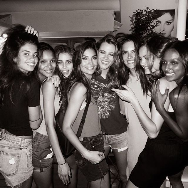 Girls night in Rome @VictoriasSecret Holiday Commercial #VSHoliday2015 @sarasampaio @laisribeiro @taylor_hill @behatiprinsloo @alessandraambrosio @jacmonika @jastookes Photo by @jeromeduran