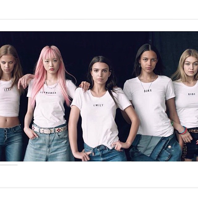 """""""All My Friends Love to Dance, Wear Denim"""" is up on @voguemagazine fun day with these lovely ladies"""