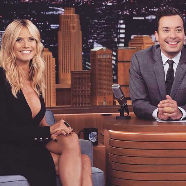 One of my favorite late night stops! Hanging with @fallontonight! #ProjectRunway #AGT10