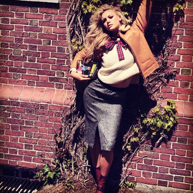 """Harvard law? What like its hard?"" Channeling my inner #ellewoods at Harvard for @jalousemag. Lots of laughs with @felixfischerhair @makeupvincent @jenjalouse on this set!"