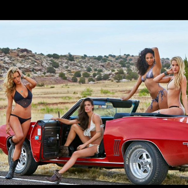 #tbt with the ladies of #route66 @hannahfergusonofficial @sarasampaio @therealashsmith Good times!