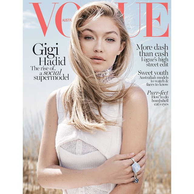 Unreal! My new cover of @VogueAustralia - on stands in June for all my friends down unda! Can't wait to share the inside spread soon, one of my all-time favesss