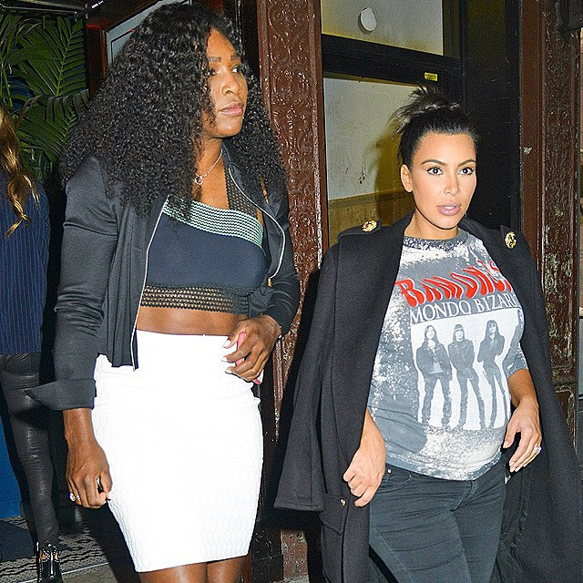 We need to talk about this friendship, please. #SerenaWilliams #KimKardashian #startracks | MediaPunch/AP