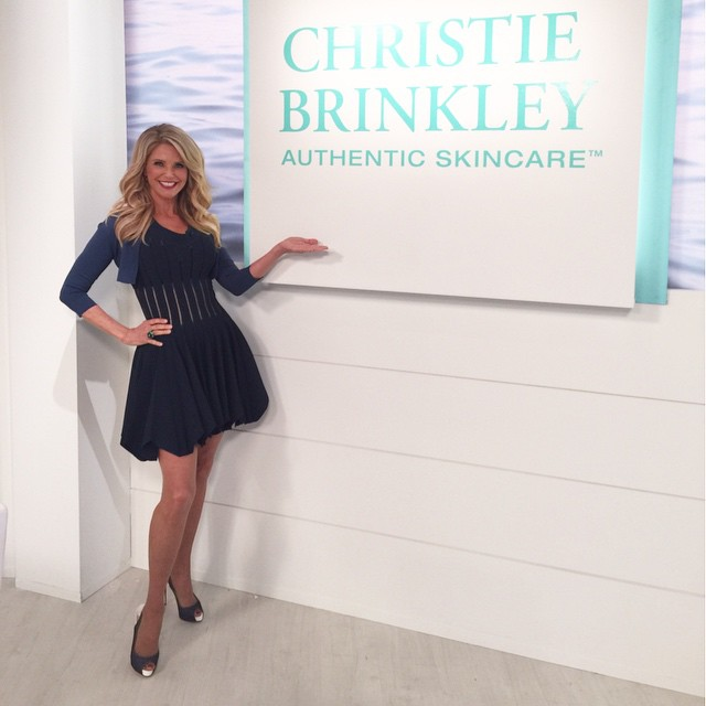 The Price Is Right Girls! Get your @brinkleybeauty now! #brinkleybeauty @hsn dress @azzedinealaia shoes @louboutinworld make up @sandylinter hair @mitchbarry @wslukastyle