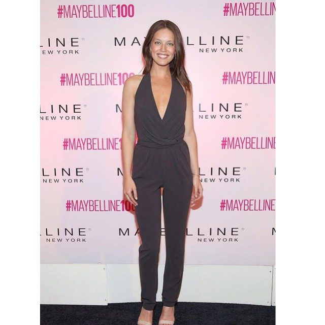 I always love a jumpsuit! Last night celebrating @maybelline New York's 100th anniversary. Happy birthday to @maybelline emoji️ I'm so proud to be a #maybellinegirl