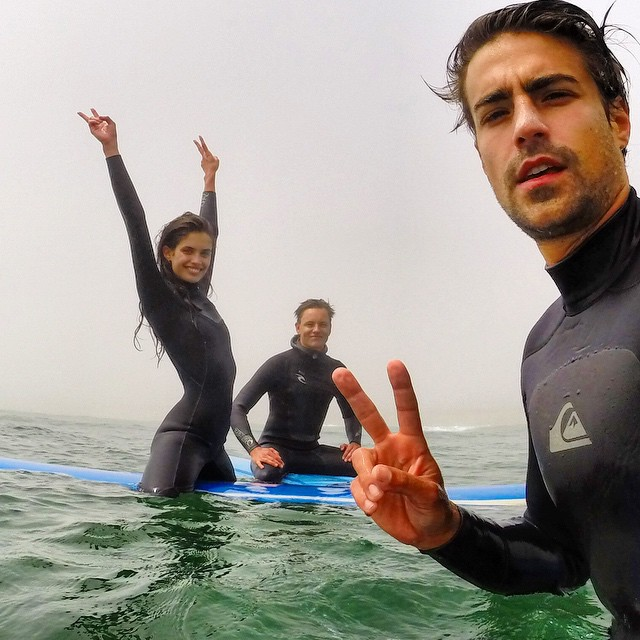 Great morning surfing in Montauk #theend In foggy creepy weather @olibenz @pottsypotts #surflodge