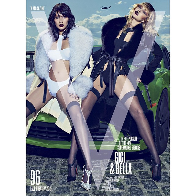 SISSY & SISSY ON DA COVER OF V! @bellahadid ON STANDS JUNE 30th Thank you to the whole team @vmagazine @stevenkleinstudio @patti_wilson @imgmodels for the most memorable first cover together!!! (& also for putting up with us singing Broadway songs all day hahhaa).. So excited and grateful!